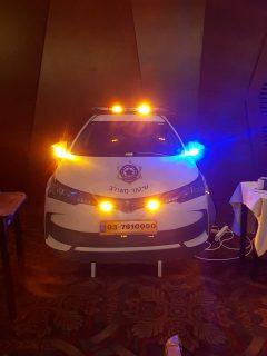 התקנת תאורה על רכב שיטור משולב