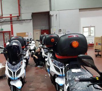 רשות ערונית מזוודת את הקטנועים החדשים בבונדד עופר אבניר